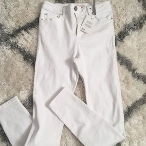 ASOS WHITE SKINNY JEANS HIGH WAISTED